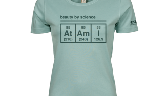 Atami Lifestyle T-shirt - Beauty by Science Dusty Green (women) (Maat: S)