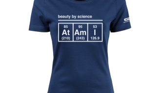Atami Lifestyle T-shirt - Beauty by Science Indigo (women) (Maat: XXL)