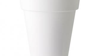 Plastic Bloempot Wit.Elho Pure Round High Bloempot Wit O 45 Cm
