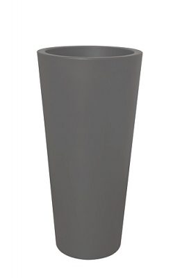 Elho Pure Straight Round High Plantenbak 40 cm - Antraciet