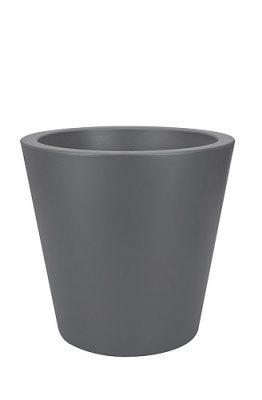 Elho Pure Straight Round Plantenbak 50 - Antraciet