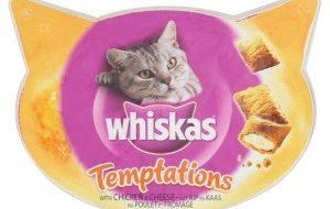 Whiskas Temptations kip / kaas Kattensnoep 60 gram