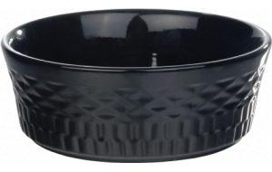 Keramieke eetbak diamond - Zwart-18 x 6.5 cm