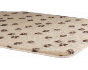 Vetbed afgebiesd met voetprint en antislip - Grijs-75 x 50 cm