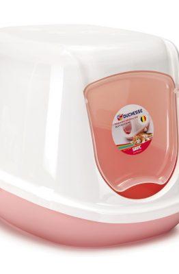 Kittenbak duchesse roze wit 44x35x32