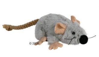 Trixie Kattenspeelgoed Muis van Pluche met Kattenkruid - Voordeelpakket: 3 x 7 cm
