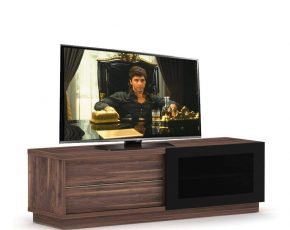 Walnoot Tv Meubel : Elmob harmony slide tv meubel walnoot