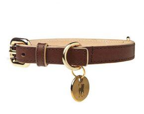 Dogatella Dogatella Klassieke Halsband donkerbruin