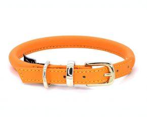 Dogs and Horses Dogs & Horses Lederen Halsband rond oranje