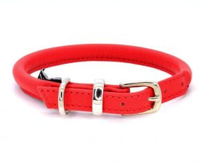 Dogs and Horses Dogs & Horses Lederen Halsband rond rood