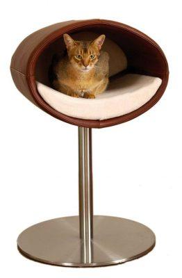 Pet Interiors Pet-Interiors Rondo Leer Kattenstandaard
