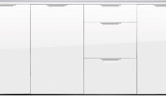Dressoir Mona White 192 cm breed - Wit