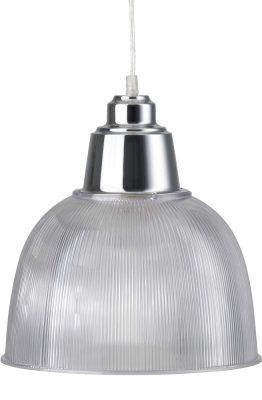 Hanglamp Indy Transparant Grijs/ Chroom