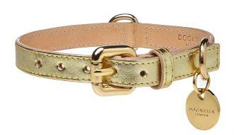 Dogatella Dogatella Metallic Halsband gold