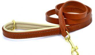 Dogs & Horses Dogs & Horses Gevoerde Lederen Riem bruin